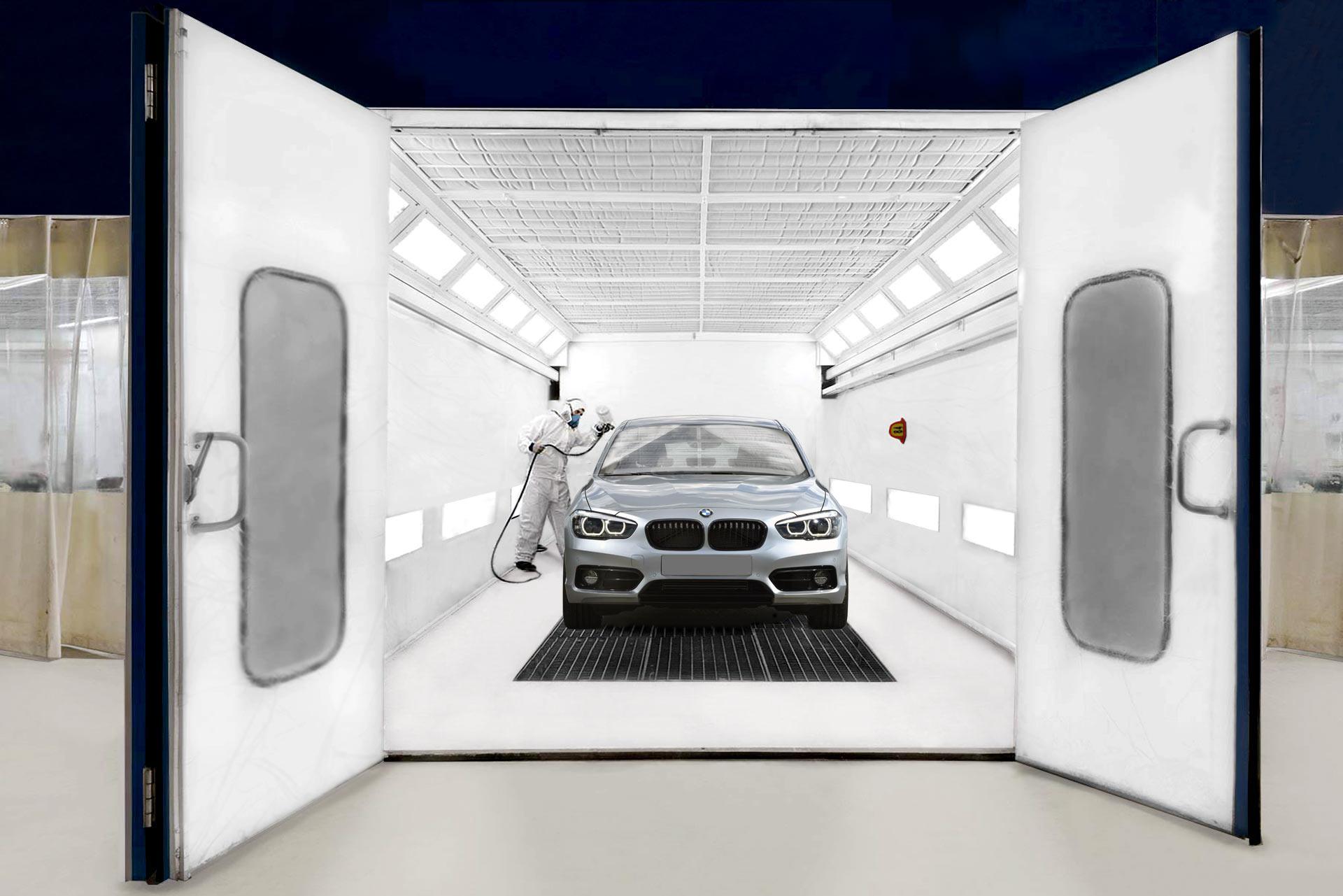 Cabina de pintura de vehículos