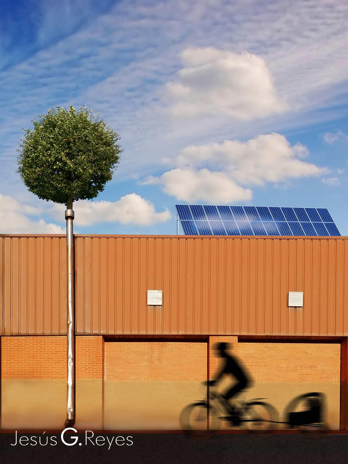 Energías limpias. Fotomontaje