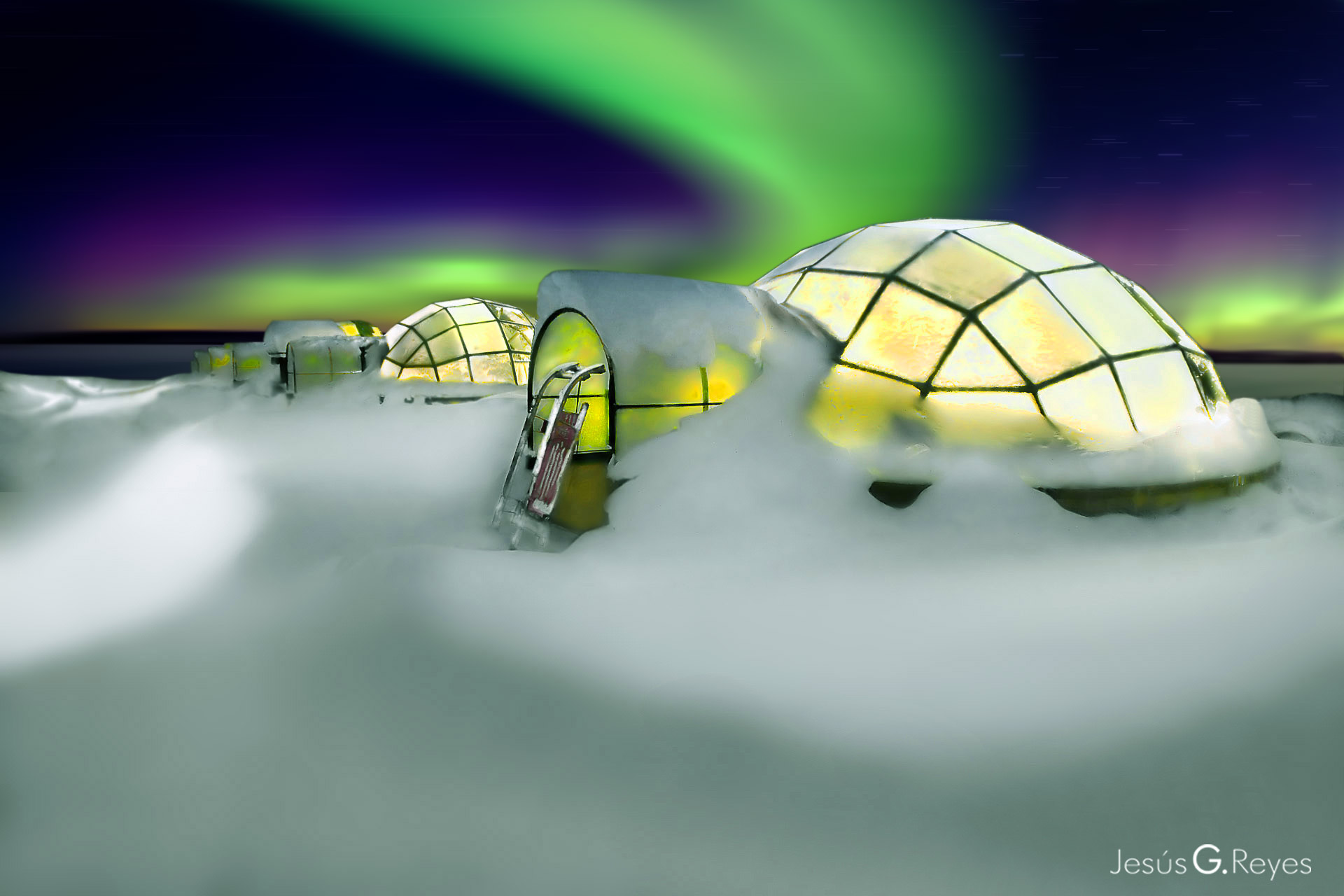 Kakslauttanen. Lapland. Finland