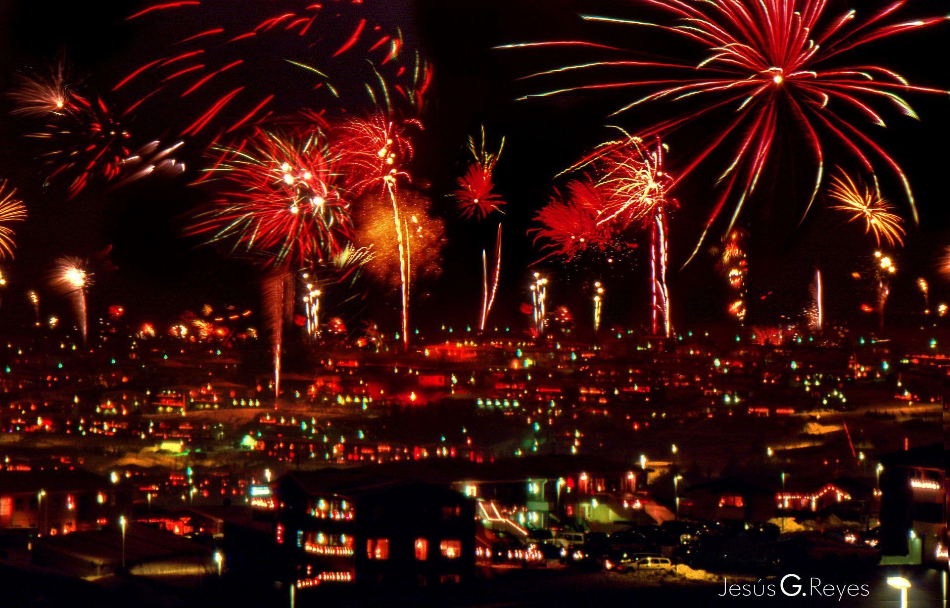 New Year Eve. Reikiavik. Iceland